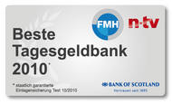 Bank of Scotland ist Tagesgeld-Testsieger